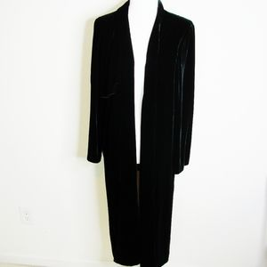 Eileen Fisher Black Velvet Evening Duster/Jacket